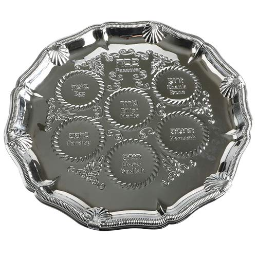 Nickel Plated Passover Seder Plate
