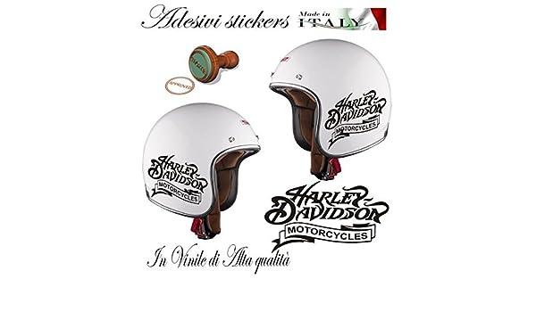 Adhesivo Decal con logotipo de Harley Davidson Motorcycle H-D para casco de moto custom: Amazon.es: Coche y moto