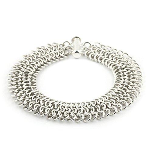 Weave Got Maille European 4-in-1 Chain Maille Bracelet Kit, Silver