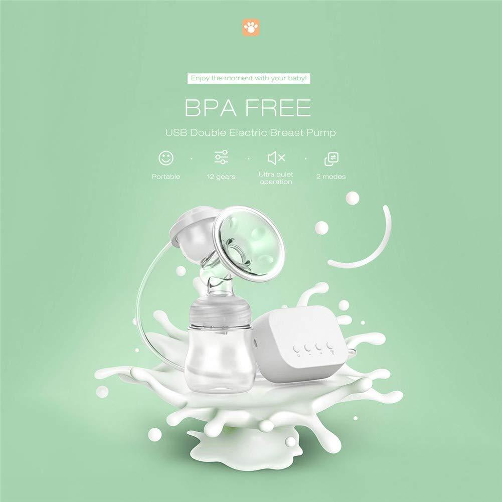 Amazon.com: CRZJ - Bomba de leche eléctrica con boquillas de ...