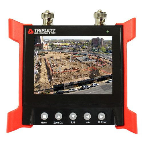 Ruggedized Lcd - Triplett CamView Elite Portable Video Test Monitor for Security Cameras with 12V -1 Amp Output - Bright HQ 3½