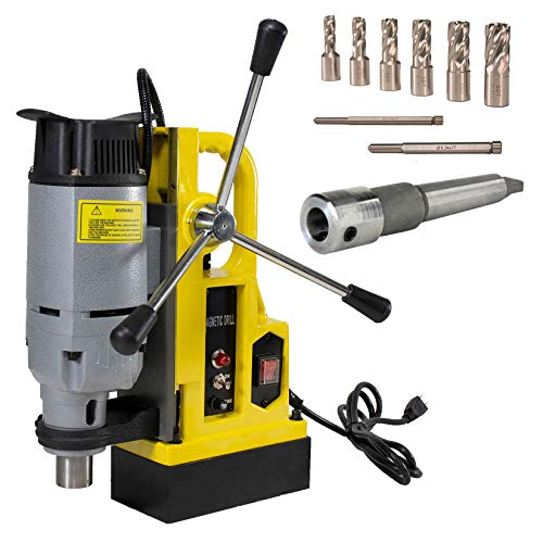Steel Dragon Tools MD25 1in. Magnetic Drill Press and 7 Piece Small Diameter 1in. Cut Depth Annular Cutter Kit