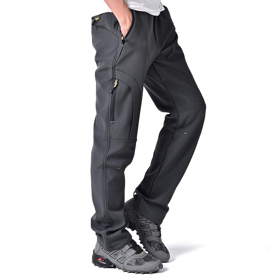 Men/'s Trousers Fleece Outdoor Hiking Skiing Long Pants Warm Windproof Waterproof