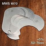GWS1070 +5% Metric Wire Rope & Sheave Gauge - 52-70mm