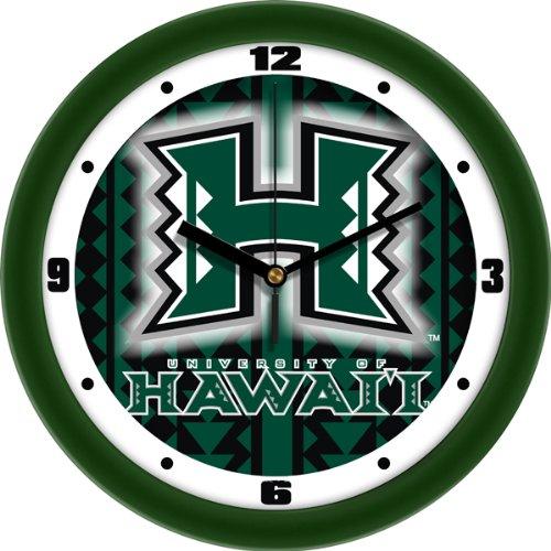 Hawaii Warriors UH NCAA 12In Dimension Wall Clock