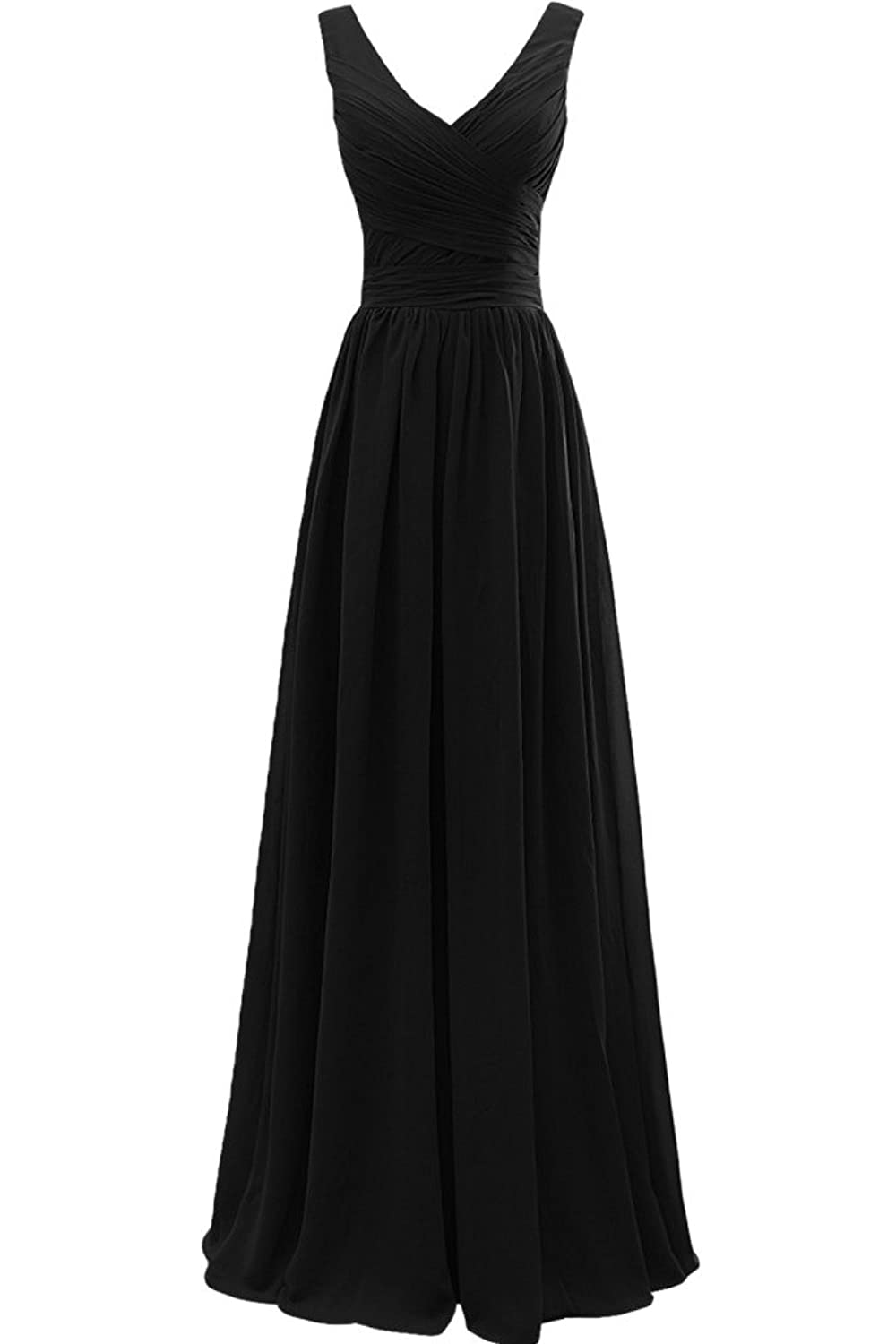 Sunvary Graceful A Line Chiffon V-Neck Sleeveless Party Dresses Evening Dress Prom Gowns