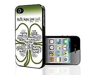 Faith Hope Love Luck Four Leaf Clover Hard Snap on Phone Case (iPhone 5/5s) by mcsharks
