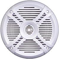 Power Acoustik MF-65WT Marine Grade 6.5 Coaxial Speaker, White/Titanium