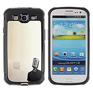 """Pulsar iFace Series Tpu silicona Carcasa Funda Case para Samsung Galaxy S3 III I9300 , Micrófono Música Mente Protesta Libertad"""""""