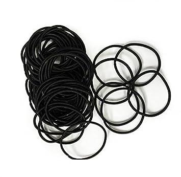 Black Snag Free Thin Elastic Hair Bands by Lizzy® (15)  Amazon.co.uk ... ab900bf01eb