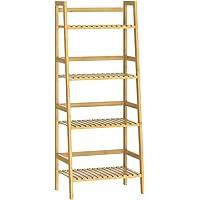 CASARIA Estantería de bambú de 4 baldas estantes Mueble de almacenaje librería…
