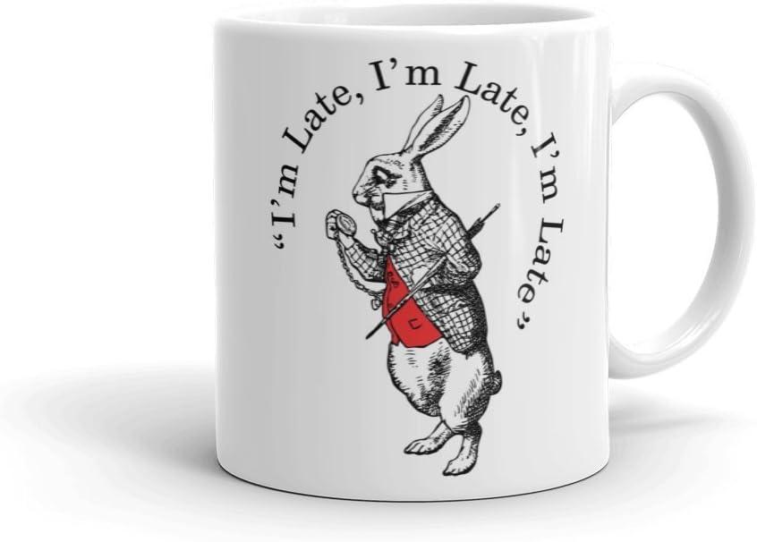 British Library Alice in Wonderland - Taza de cerámica con diseño de conejo blanco: Amazon.es: Hogar
