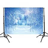 Careonline 5X7ft Fairy tale Frozen Waterfall Customized Vinyl Winter Photography Backdrop Background Studio Prop