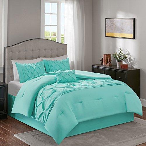 Home Essence Austin 5 Piece Comforter Set Aqua Full/Queen (Austin Bedskirt)