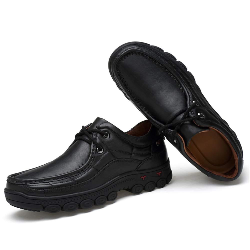Xujw-schuhe, 2018 Schuhe Herren Herren Air Cushioning Komfortable Außensohle Oxford Halbformale Schuhe Mode Oxford Außensohle Casual (Farbe   Schwarz, Größe   45 EU) 91aa14