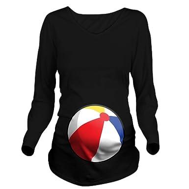 79035452737ab CafePress Halloween Beach Ball Long Sleeve Maternity T-Shirt, Cute and  Funny Pregnancy Tee