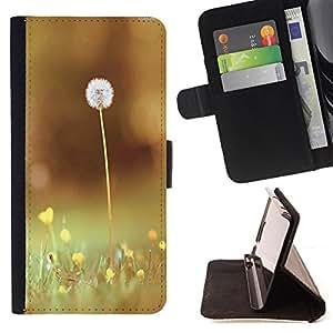 Devil Case- Estilo PU billetera de cuero del soporte del tir¨®n [solapa de cierre] Cubierta FOR Samsung Galaxy G360 G3608 G3606- Dandelion