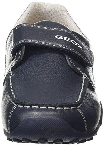 Geox Jr Snake Moc Boy A - Zapatos primeros pasos para Niños Azul (Bleu)