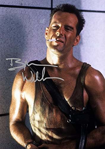 Bruce Willis Die Hard John McClane 1988 Action Movie Print (11.7