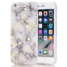 iPhone 6S plus Case,iPhone 6 Plus Case,Spevert Marble Pattern Hybrid Hard Back Soft TPU Raised Edge Ultra-Thin Shock Absorption Scratch Proof Protective Case for iPhone 6 Plus/6S Plus 5.5 inches - White