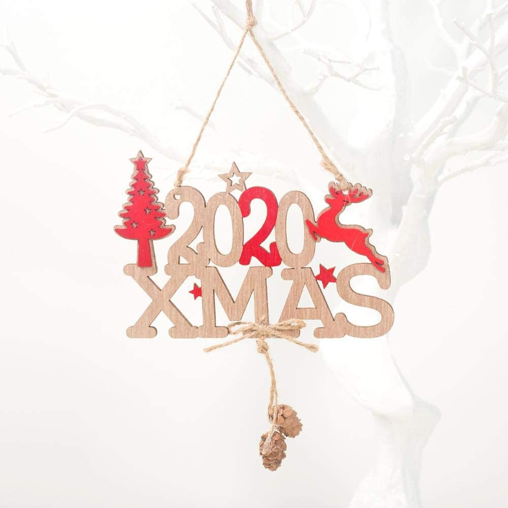 2020 New Letter Christmas Decorations Wooden Tree Hanging Decoration Ornaments Creative Christmas Tree Decoration