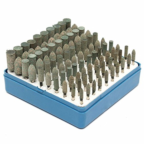 Letbo New 100pcs 4mm//5mm//6mm//8mm//10mm Universal Rotary Assorted Abrasive Stone Accessory Tool Kit For Dremel