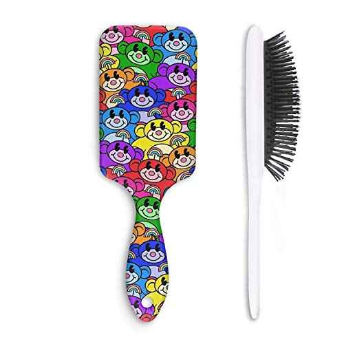 Unisex Wet And Dry Airbag catnip rainbow Professional Hair Comb Daily Maintenance,Reduce Frizz. ()