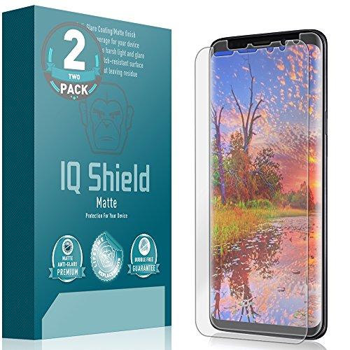 Galaxy S9 Screen Protector (2-Pack), IQ Shield Matte Full Coverage Anti-Glare [EDGE to EDGE] Screen Protector for Galaxy S9 (Max Coverage) Bubble-Free Film