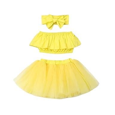 Bebé-niñas Cute Tube Top + Tutu Falda + Diadema Conjunto de 3 ...
