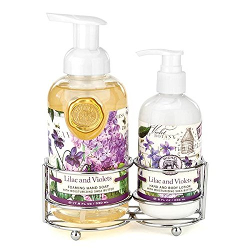 Michel Design Works Scented Foaming Hand Soap & Lotion Gift Set, Lilac & Violets