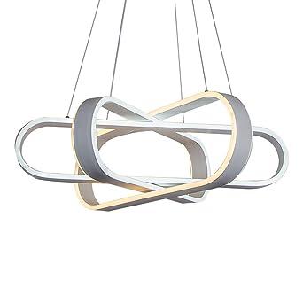 Schon 24W LED Pendelleuchte Einfach Personalisierte Design Hängeleuchte Kreative  3 Flammig Modern Rechteckige Pendellampe Acryl Metall