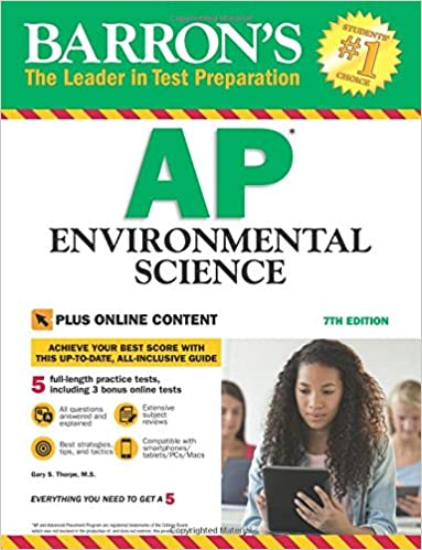 Amazon barrons ap environmental science 7th edition with barrons ap environmental science 7th edition with bonus online tests 7th edition fandeluxe Image collections