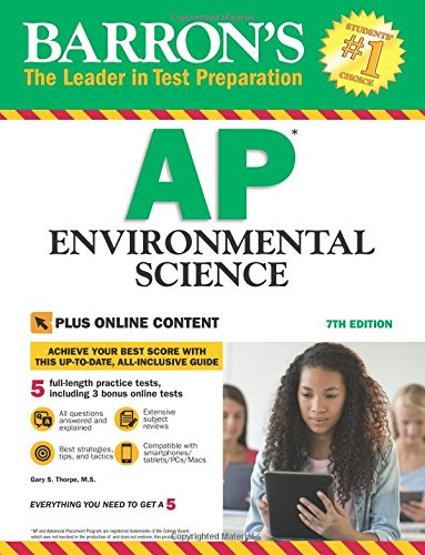 Barrons Ap Environmental Science  7Th Edition  With Bonus Online Tests