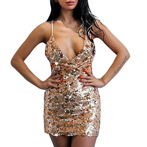 da Angelof Abito Sexy Ricamo Abiti spalline Shoulder Donna Fiori Mini senza Backless Chic con paillettes Beige Dress Off sera 1Oqwd1r