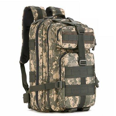 Mefly Men'S Bag 30L Mochila De Senderismo Trek Camuflaje Mochila De Viaje Mochila De Nylon Impermeable Negro Una Mochila Militar ACU