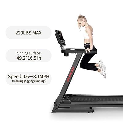 Folding Manual Mini Treadmill Running Walking Jogging Exercise Fitness Machine D