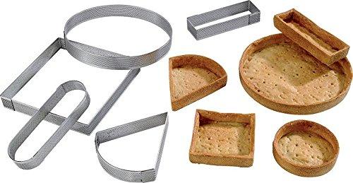 Cucina: Intorno della Pasticceria Cuisineonly/ /Circolo Inox Perforato Diametro 7/cm/ Cerchi Acciaio Inox//–/nonettes /Altezza 2/cm