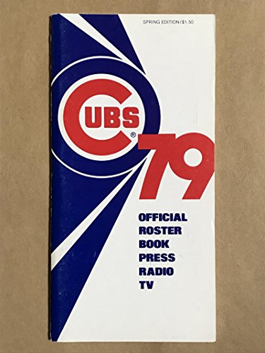 CHICAGO CUBS MLB BASEBALL MEDIA GUIDE 1979 SPRING EX+/NM