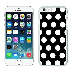 Iphone 6 Cases;cute Iphone 6 Case,polka Dot Black and White Iphone 6 Plus Cases White