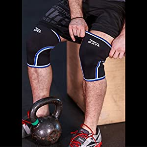 Knee Sleeves Compression & Support Wraps – Ergonomic Design & Anatomical Perfect Fit – Pair