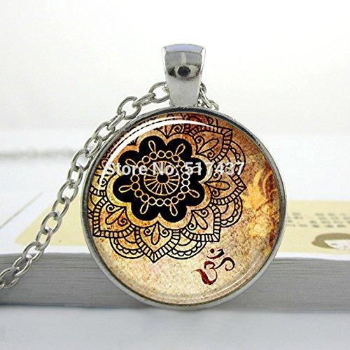 Pretty Lee Flower Necklace-New-2015-Hot-Sale-The-Kiss-By-Gustav-Klimt-Necklace-Art-Pendant-Bronze-Jewelry-Wholesale-Glass Picture Pendant