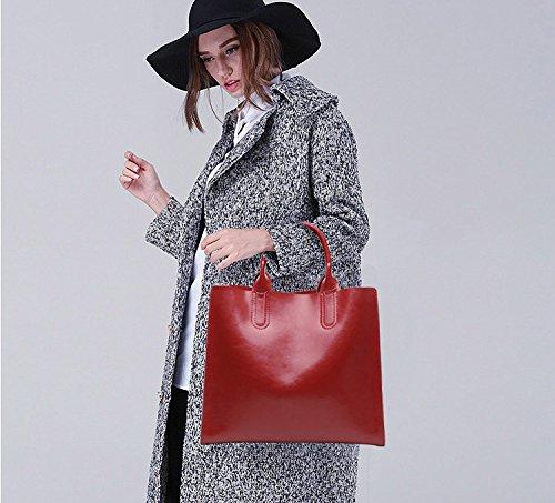 Borgoña Elegante Zurriago Cuero Las Bolso Mujeres Genuino Para Crossbody Moderno Del Hombro De Señoras UwSqOT