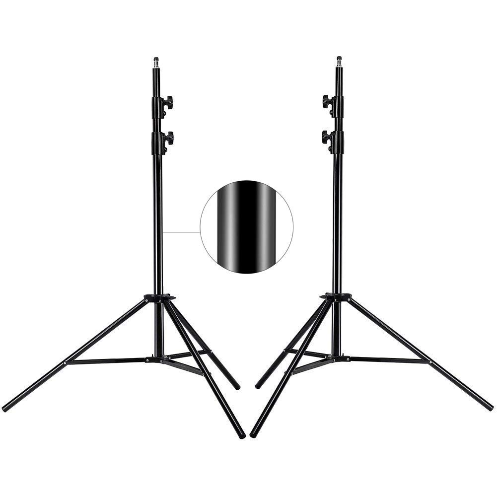 MOUNTDOG Upgraded 6.5 Ft/ 200CM / 78inch Photography Tripod Light Stand Aluminum Alloy Photographic Stand for Studio Reflector Softbox Umbrellas-6.5ftX2 ¡­ by MOUNTDOG (Image #1)