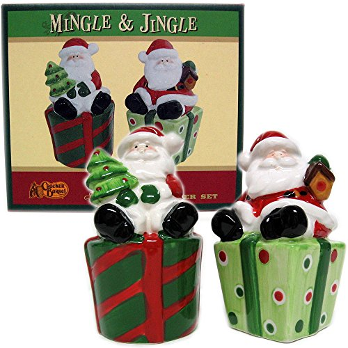 cracker-barrel-mingle-jingle-santa-salt-and-pepper-shaker-set