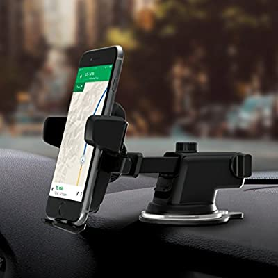 iOttie Easy One Touch 3 (V2.0) Car Mount Universal Phone Holder for iPhone 7 Plus 6s Plus SE Samsung Galaxy S7 Edge S6 Edge Note 5- Retail Packaging- Black by iOttie