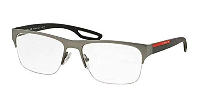 cbedbe46c8 Image Unavailable. Image not available for. Colour  Prada Linea Rossa Men s  PS 55FV Eyeglasses Gunmetal Rubber 56mm