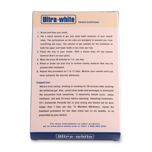 Amazon Com Ultra White 22 Teeth Whitening Gel Large 5 Tubes 3 8