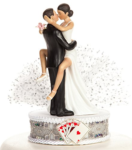Funny Sexy African American Las Vegas Wedding Cake Topper (African Wedding Cake Topper American)