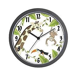 CafePress Jungle Animal Unique Decorative 10 Wall Clock