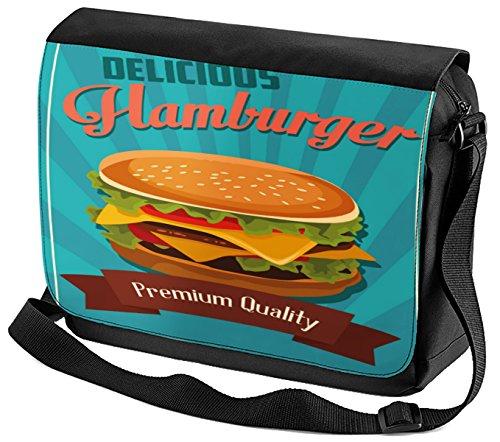 Umhänge Schulter Tasche Küche Hamburger bedruckt HREfCQXeKD